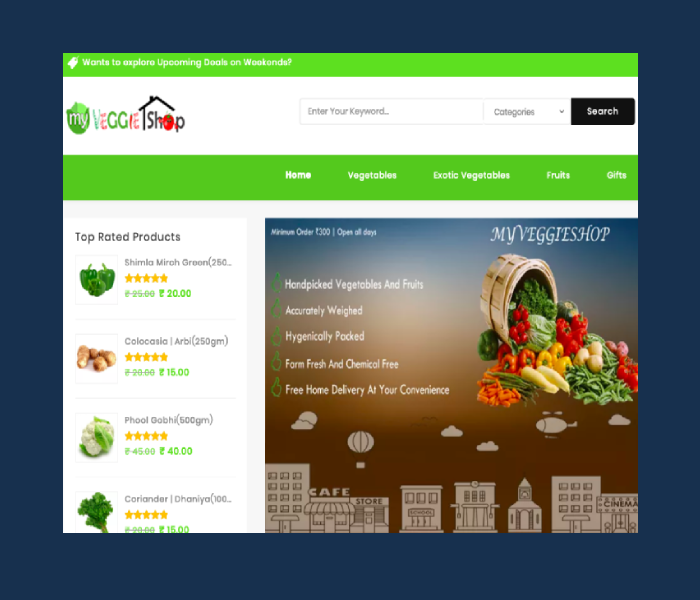 Vegetable E-Commerce